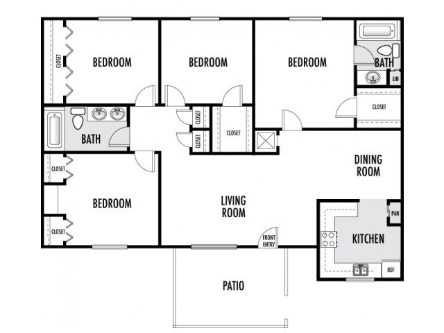 1,333 sq. ft. floor plan