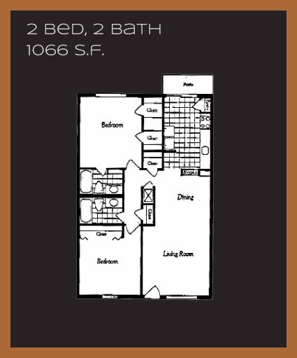 1,066 sq. ft. K floor plan