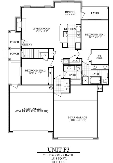 1,418 sq. ft. F3 floor plan