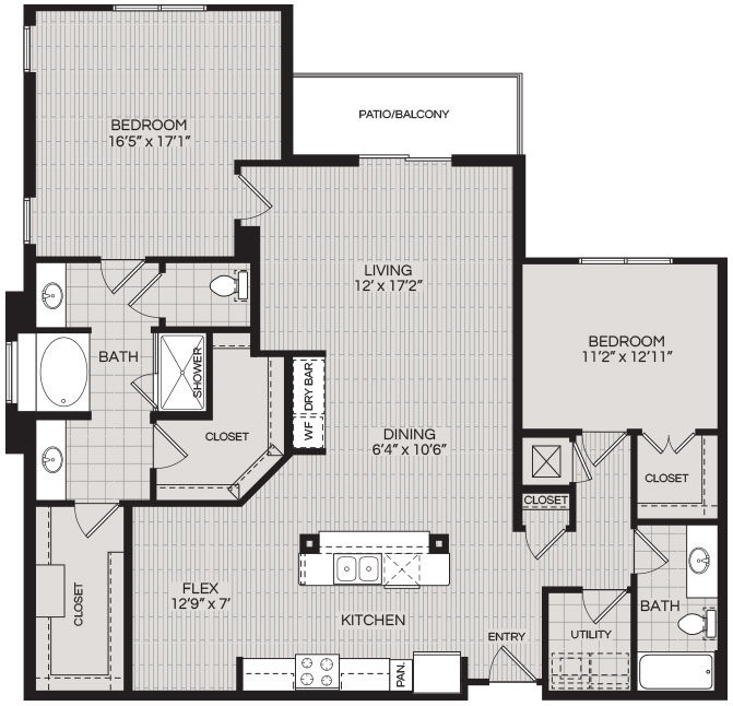 1,659 sq. ft. B4 floor plan