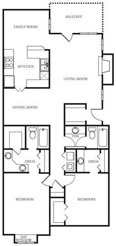 1,421 sq. ft. Legacy floor plan