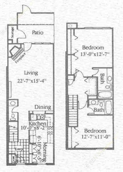 1,312 sq. ft. B3 floor plan