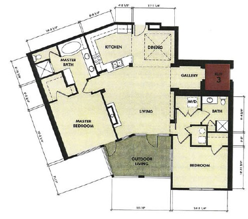 1,478 sq. ft. Pecos floor plan