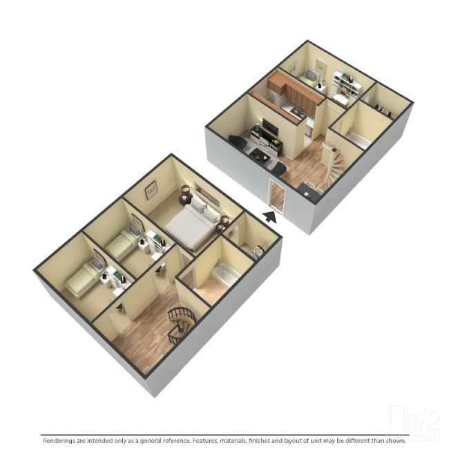 1,300 sq. ft. floor plan
