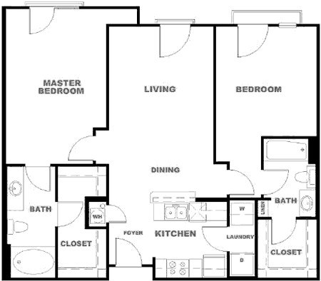 1,143 sq. ft. BXR floor plan