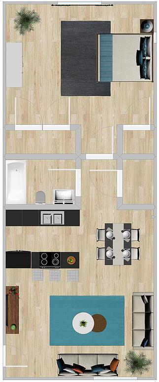 602 sq. ft. floor plan