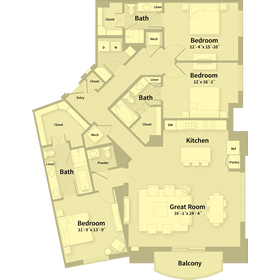 2,172 sq. ft. F2 floor plan