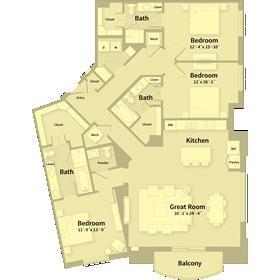 2,172 sq. ft. F2 floor plan