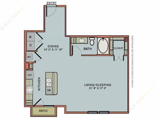 814 sq. ft. 3S6 floor plan