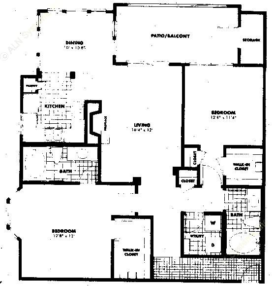 1,252 sq. ft. B3 floor plan