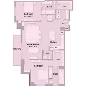 1,676 sq. ft. E2 floor plan