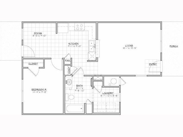 718 sq. ft. Europa/60% floor plan