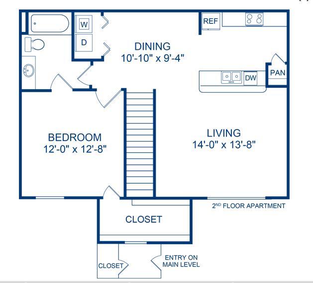 793 sq. ft. Lavaca floor plan