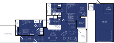 1,260 sq. ft. Nova floor plan