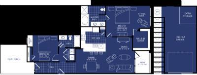 1,260 sq. ft. Nova floor plan