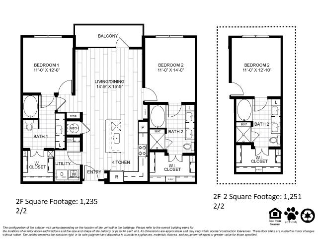 1,235 sq. ft. 2F floor plan