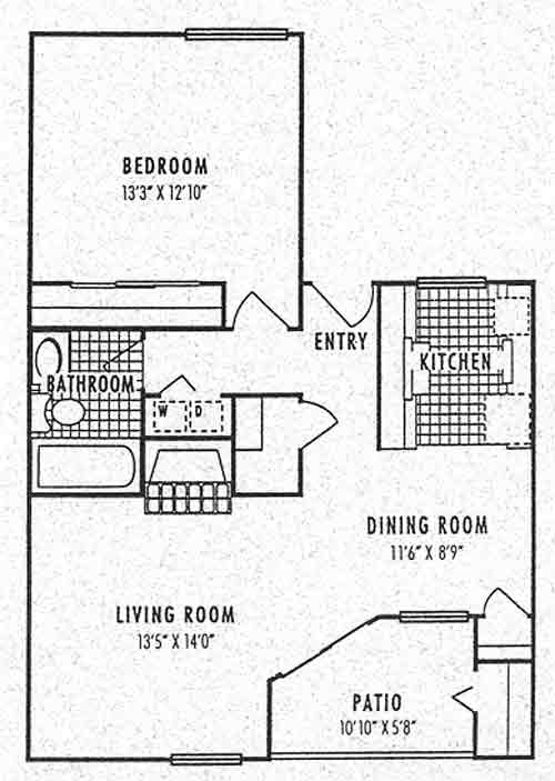 755 sq. ft. 3A floor plan