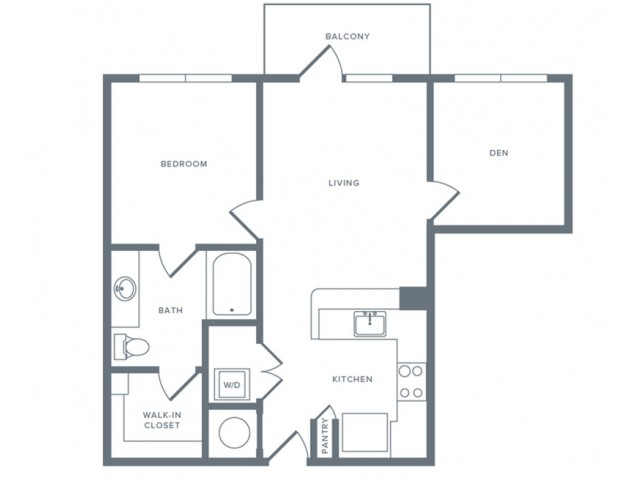 751 sq. ft. A6S floor plan