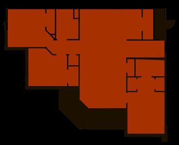 1,343 sq. ft. Oak floor plan