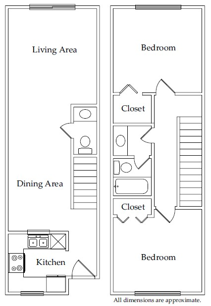 914 sq. ft. B2 floor plan