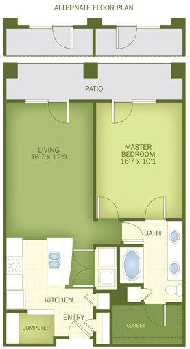 951 sq. ft. Sandestin floor plan