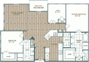 1,473 sq. ft. Casita floor plan