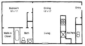 510 sq. ft. floor plan