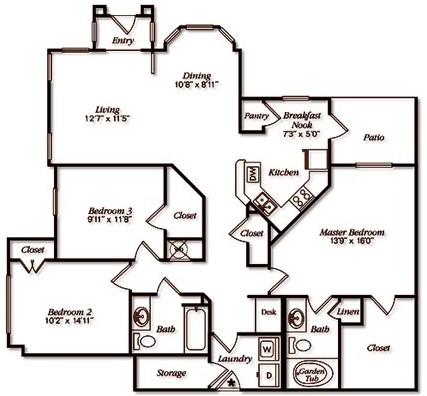 1,447 sq. ft. floor plan