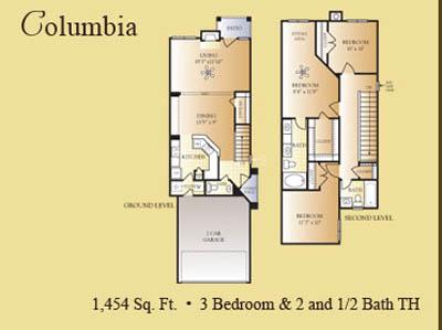 1,454 sq. ft. Columbia floor plan