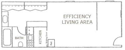 412 sq. ft. floor plan
