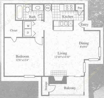 681 sq. ft. II floor plan