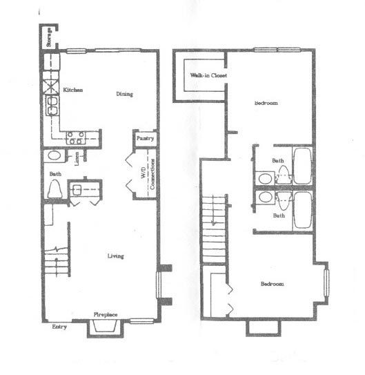 1,070 sq. ft. B5 floor plan