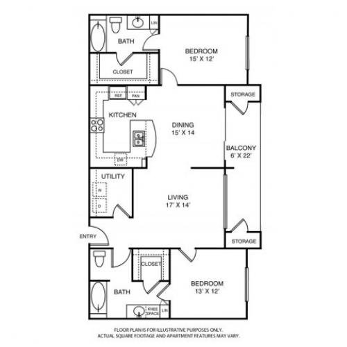 1,458 sq. ft. L5 floor plan