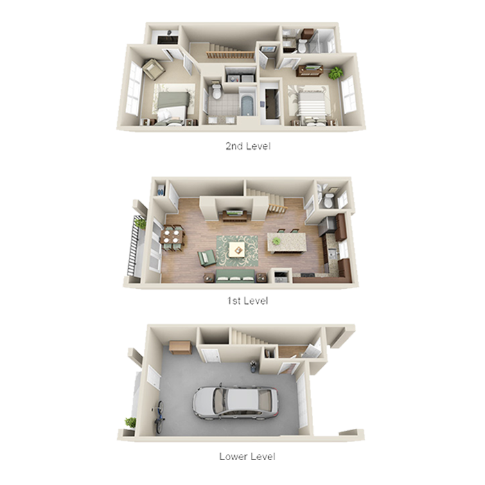 1,320 sq. ft. B1 floor plan