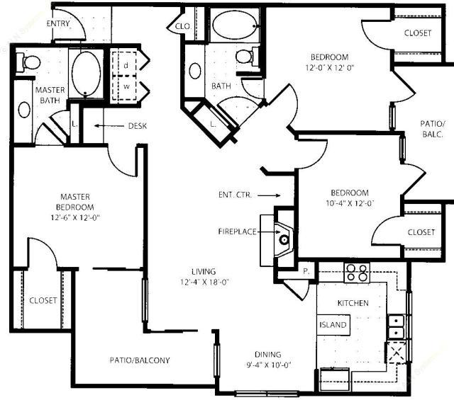 1,331 sq. ft. C1-G floor plan