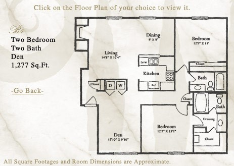 1,277 sq. ft. B4 floor plan