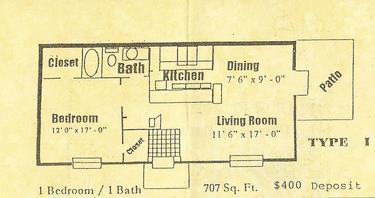 707 sq. ft. floor plan