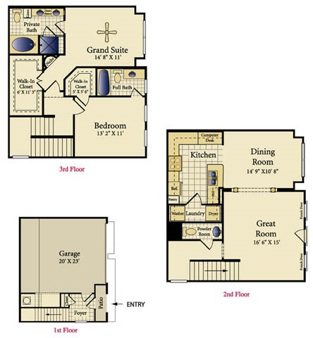 1,376 sq. ft. Soria floor plan