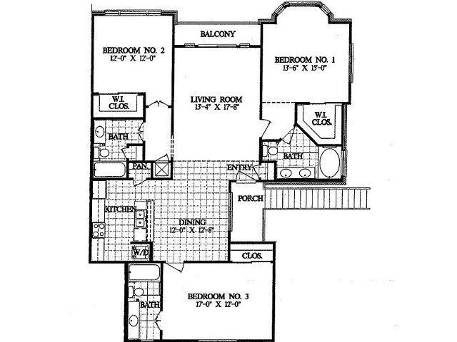 1,560 sq. ft. C1 floor plan