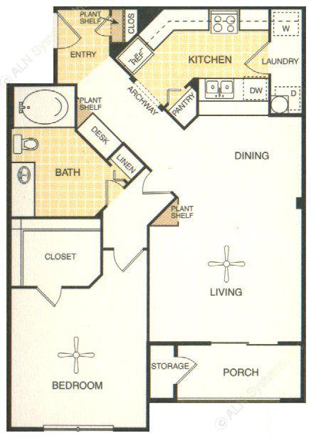722 sq. ft. Ingram floor plan
