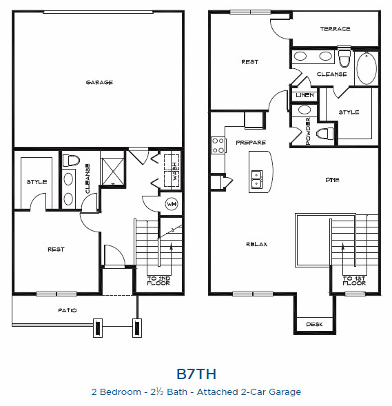 1,597 sq. ft. B7TH P floor plan