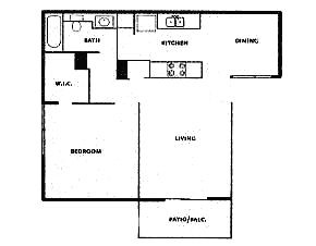 655 sq. ft. floor plan