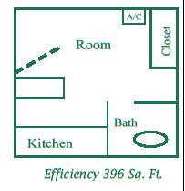 396 sq. ft. floor plan