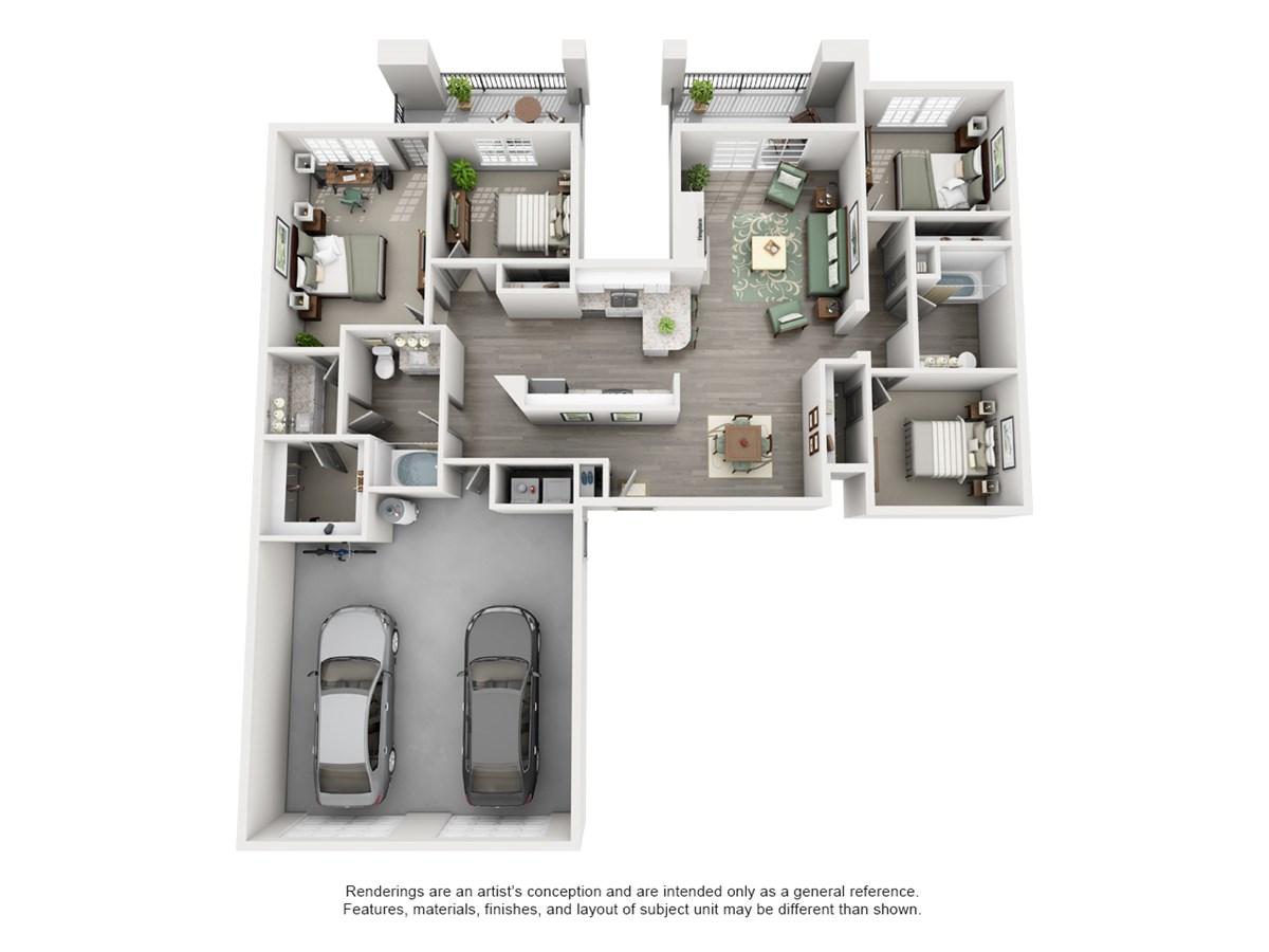 1,566 sq. ft. SIERRA floor plan