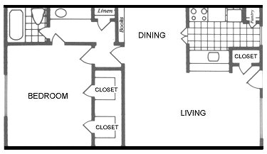 798 sq. ft. Wimberley floor plan