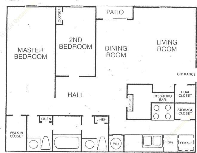 830 sq. ft. floor plan
