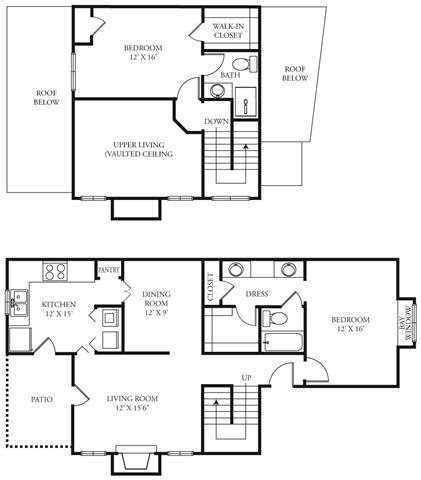 1,309 sq. ft. Heritage floor plan