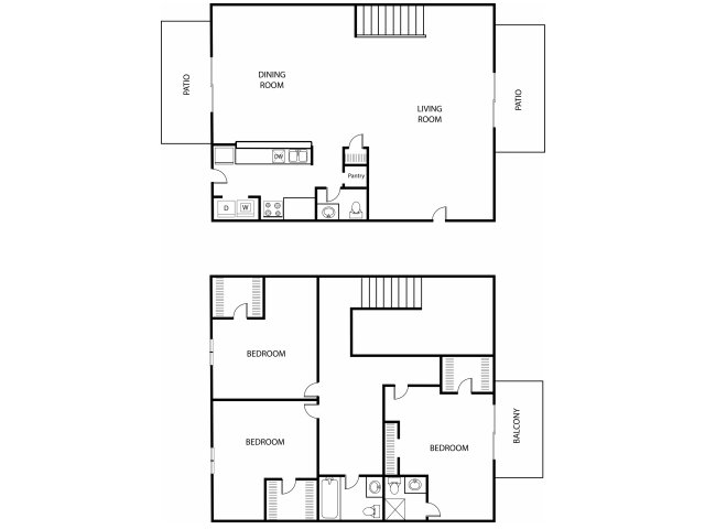 1,435 sq. ft. C3 floor plan