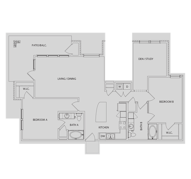 1,405 sq. ft. B5 floor plan