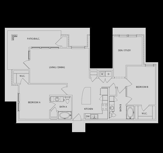 1,405 sq. ft. B5 floor plan